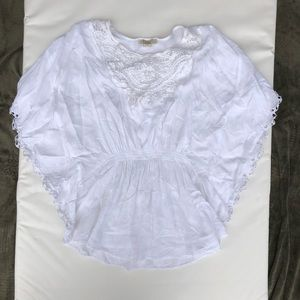 XXI White Blouse with lace details - L/6